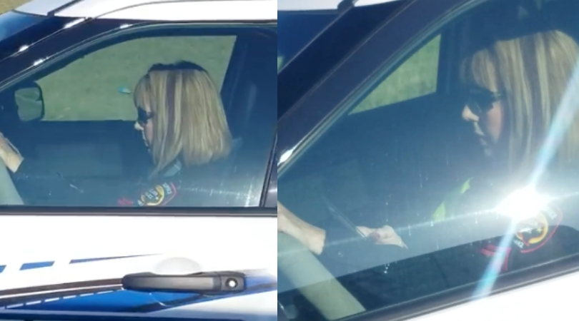 Texas Officer Caught on Camera Using Phone While Driving Without Seat Belt