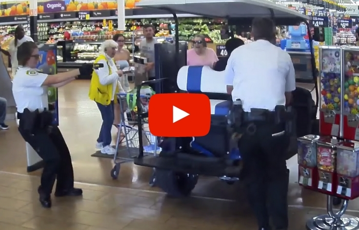 Florida Man Drives Golf Cart into Walmart, Hits Several Shoppers