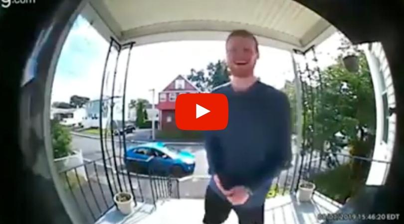 Dad Hilariously 'Interrogates' Daughter's Date Through Doorbell Camera