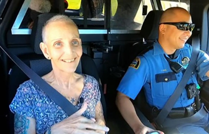 Nurse Diagnosed With Terminal Cancer Gets Bucket List Wish to Ride-Along in Cop Car