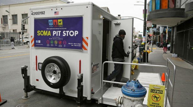 San Francisco Sets Up Portable Public Toilets to Curb All the Sidewalk Pooping
