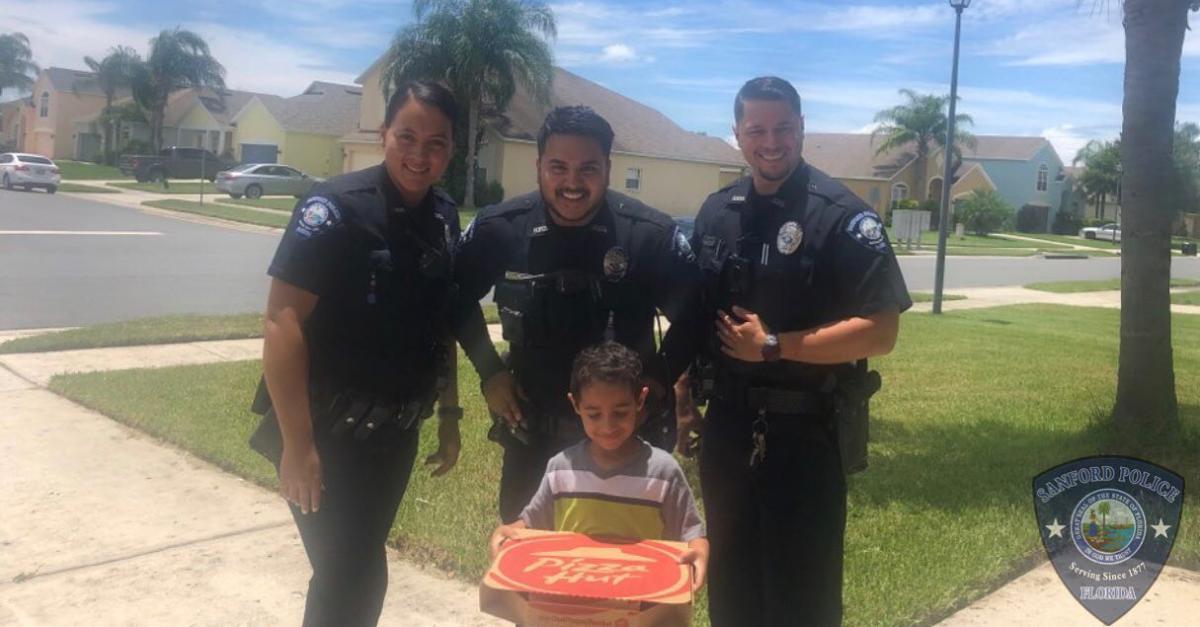 Sanford Police Pizza 911