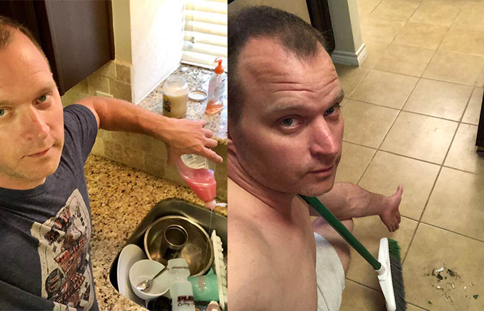 Man Posts Sexy Pictures of Himself Doing Housework, Shows What Women REALLY Want