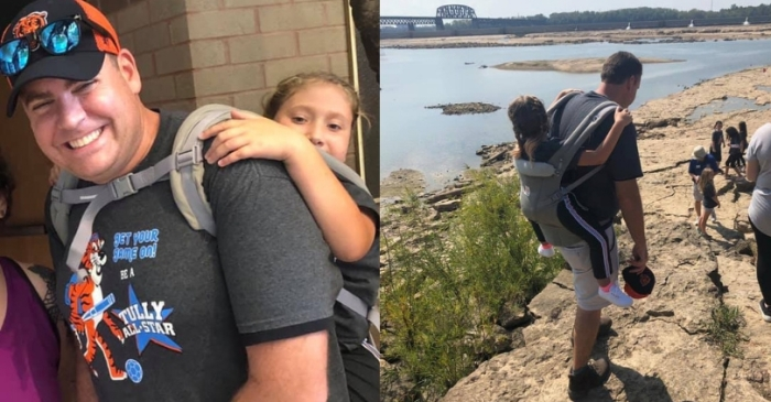 Teacher Carries 10-Year-Old Student With Spina Bifida So She Wouldn't Miss Field Trip