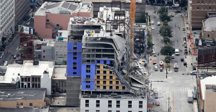 Hotel Collapses Near French Quarter in New Orleans