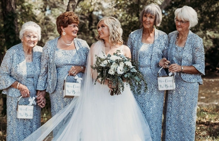 Bride Asks Four Grandmas to be Flower Girls at Wedding