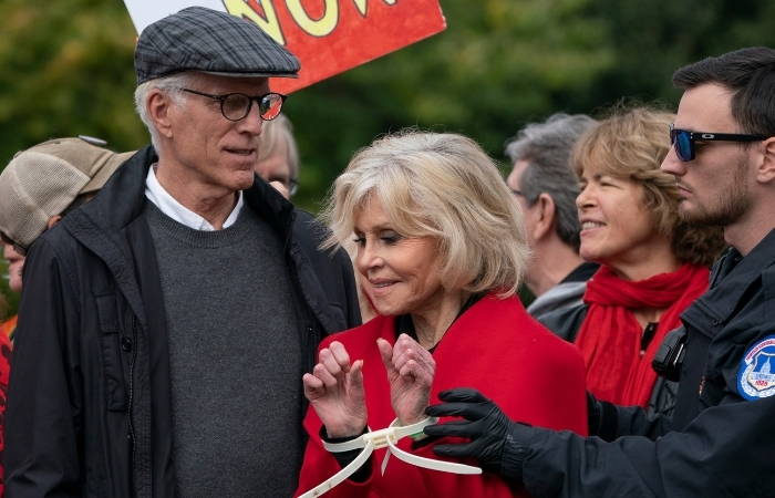Jane Fonda Arrested for the Third Time While Protesting Alongside Ted Danson
