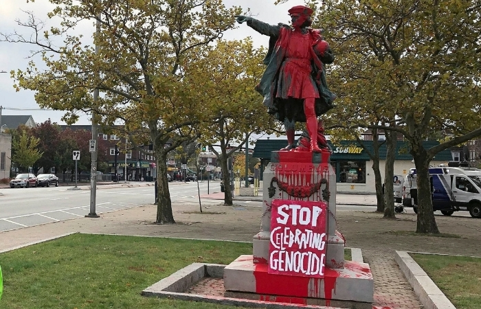 Christopher Columbus Statues Vandalized in Protest of Holiday