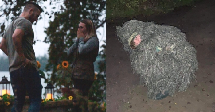 Woman Pretends to Be a Bush During Sister's Engagement to Sneak in Photos