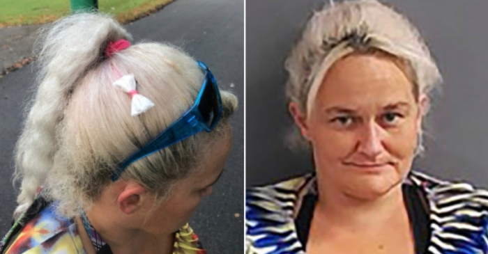 Woman Starts New Fashion Trend, Wears Bow-Shaped Bag of Meth in Hair