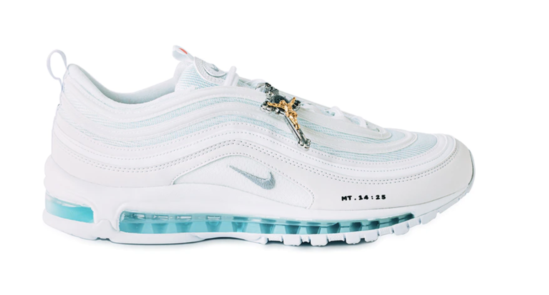 Holy Water-Filled Nike Air Max 97 Shoes