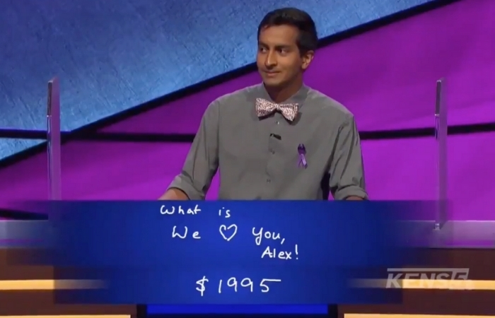 'Jeopardy!' Contestant Surprises Alex Trebek With Supportive Message