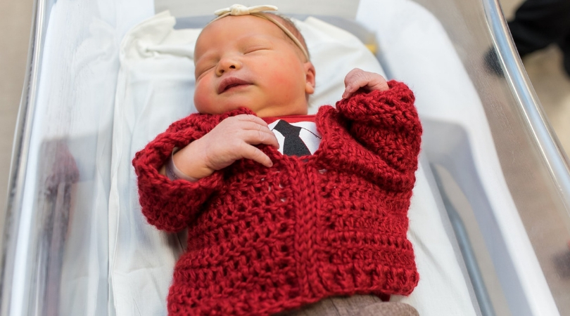 Hospital Celebrates Cardigan Day by Dressing up Newborns as Mister Rogers
