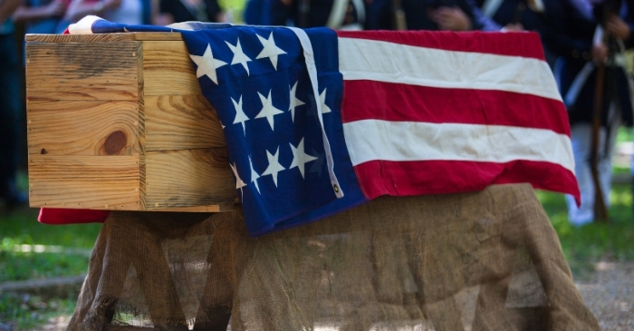 Do You Know the Meaning of a Flag-Draped Coffin?