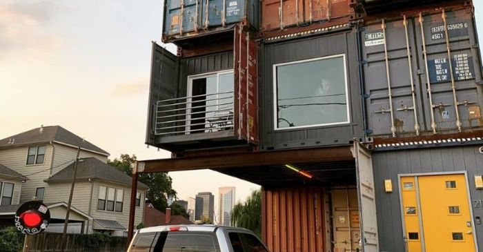 Man Uses Shipping Containers To Build His 2,500 Square Foot Dream Home