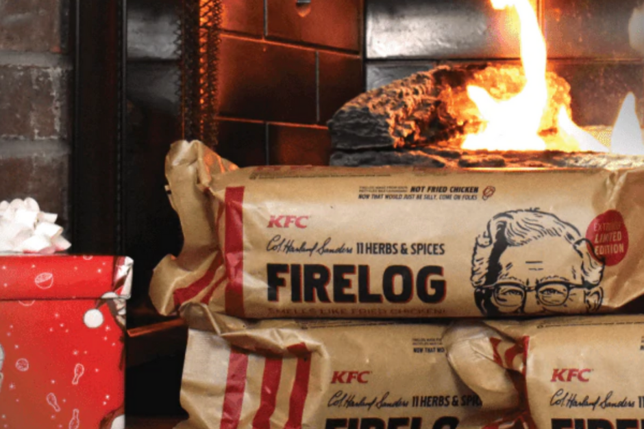 KFC Limited Edition 11 Herbs Spices FIRE LOG EnviroLog KENTUCKY FRIED CHICKEN