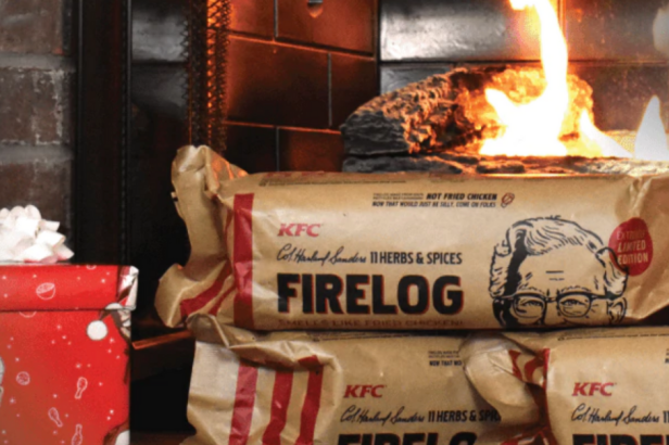 KFC is Selling a Yule Log That Smells Like Its Fried Chicken