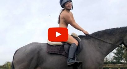Vet Student Films Herself Riding a Horse Naked To Promote Helmet Safety