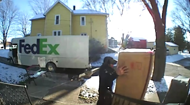 FedEx Driver Rightfully Flips Out Over Giant, Heavy Package