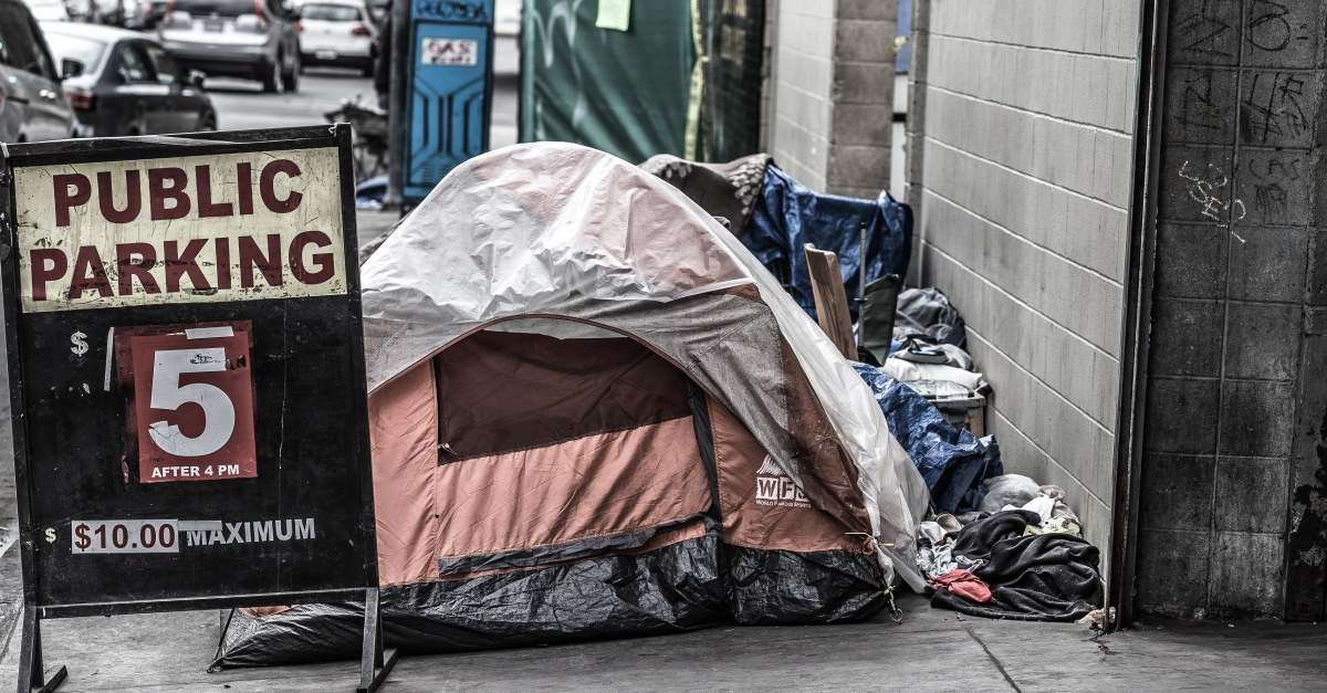 Homeless Strip Club Tent