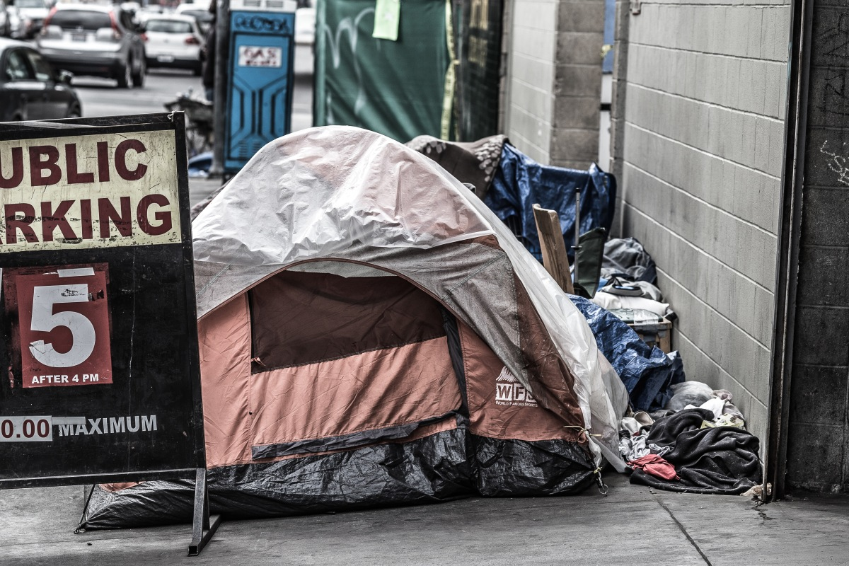 Homeless Strip Club Tent