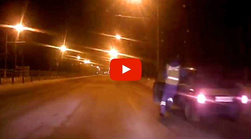 Officer Jumps Into Moving Car to Stop Drunk Driver