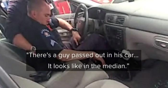 Bodycam Shows Drunk Police Officer Unresponsive in Patrol Car