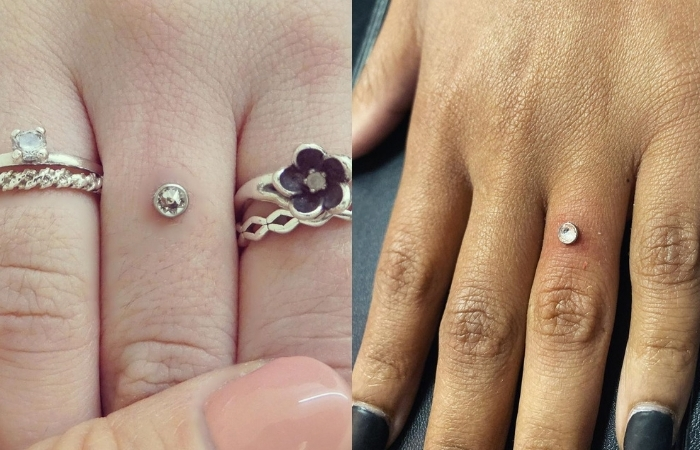 Women Are Replacing Engagement Rings With a Diamond Pierced Into Their Finger