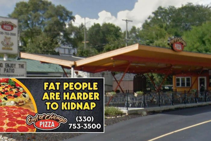 Pizza Shop Got in Trouble for 'Fat People are Harder to Kidnap' Advertisement