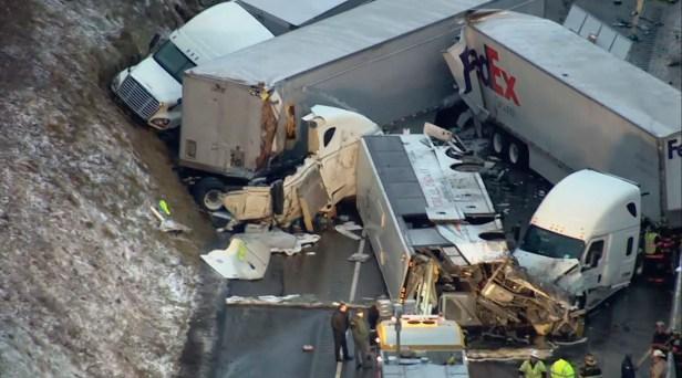 Massive Highway Pileup Kills 5, Injures 60 in Pennsylvania