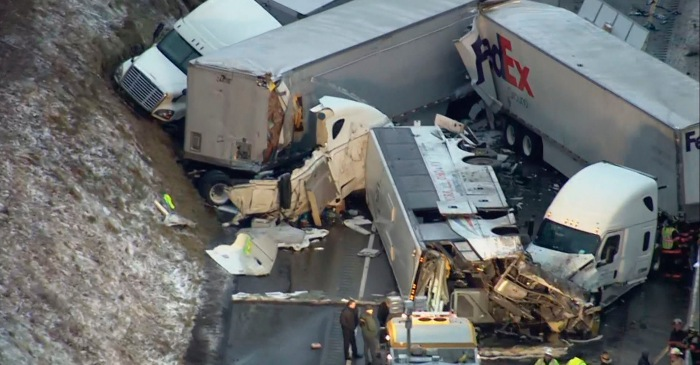 Massive Highway Pileup Kills 5, Injures 60 in Pennsylvania