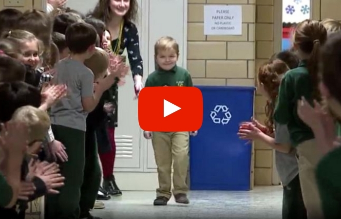 6-Year-Old Who Beat Cancer Surprised With Standing Ovation from Entire School