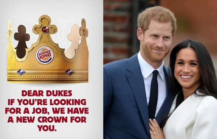 Burger King Offers Prince Harry a Job After Stepping Back From Royal Duties