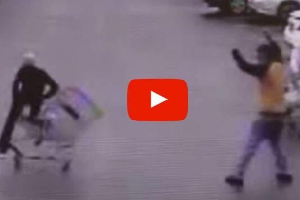 Hero Hilariously Stops Walmart Shoplifter With Shopping Cart