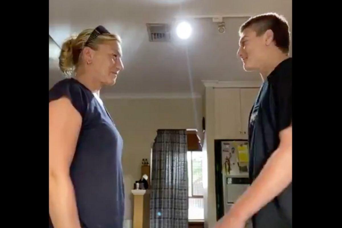 Teen Slaps His Mom's Boobs For Social Media Stunt