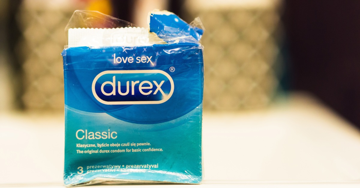 Open Durex Classic condoms box on January 31, 2019 in Poznan, Po
