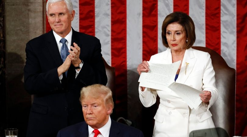 Nancy Pelosi Rips Up President Trump's State of the Union Speech