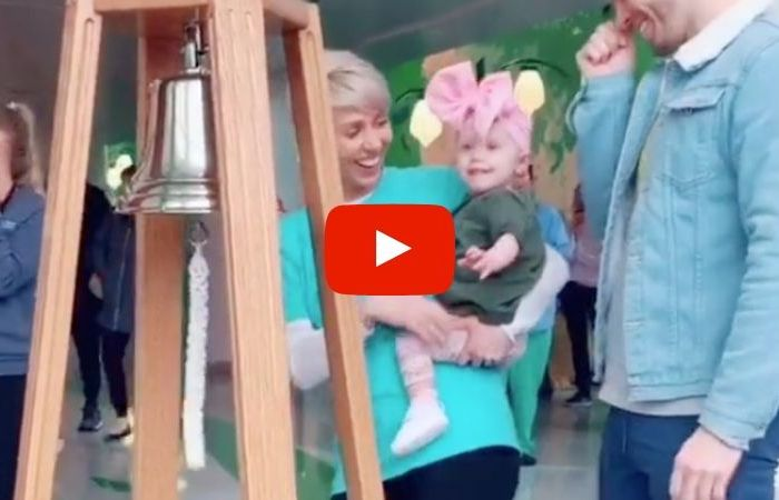 "One-Year-Old Rings ""Cancer-Free"" Bell to Celebrate End of Chemo"