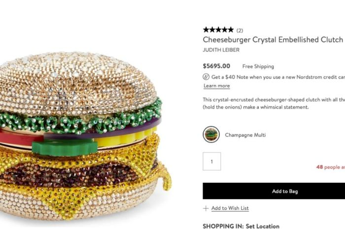 People Are Paying Almost $6,000 For This Sparkly Hamburger Purse