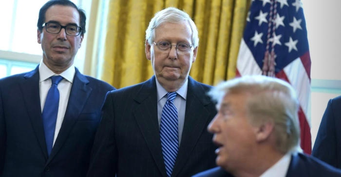 Mitch McConnell Says Trump Impeachment 'Diverted Attention' from Coronavirus