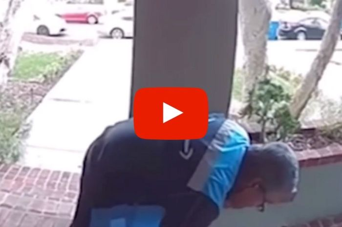 Amazon Delivery Worker Caught on Video Spitting on Package