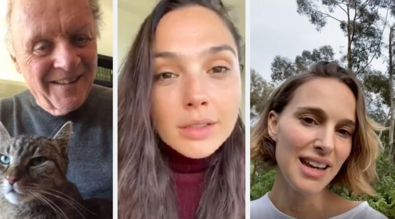 Anthony Hopkins, Sam Neill, and More Celebs Share How They Are Practicing Social Distancing