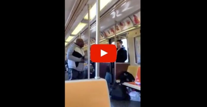 NYC Subway Rider Caught Spraying Asian Man With Febreze