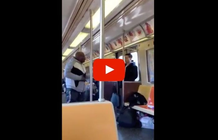 NYC Subway Rider Caught Spraying Asian Man With Febreze