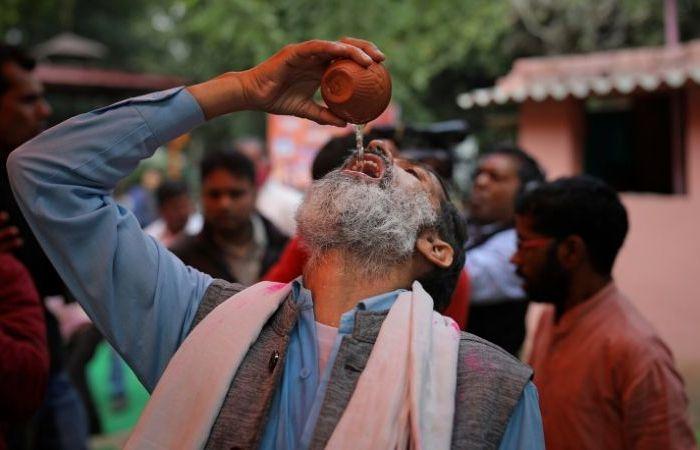 Hindu Activists Are Drinking Cow Urine to Ward Off Coronavirus