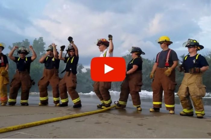 Firefighters Take on the 'Stayin' Alive' Lip Sync Challenge