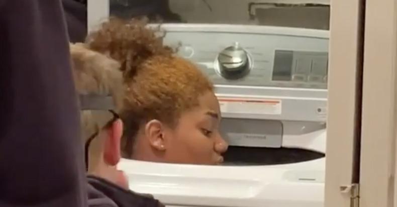 Girl Stuck in Washing Machine Hide Seek
