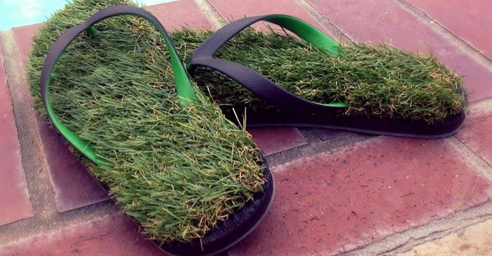 Love Walking Outside Barefoot? Here Are the Grass Flip Flops You Didn't Ask For