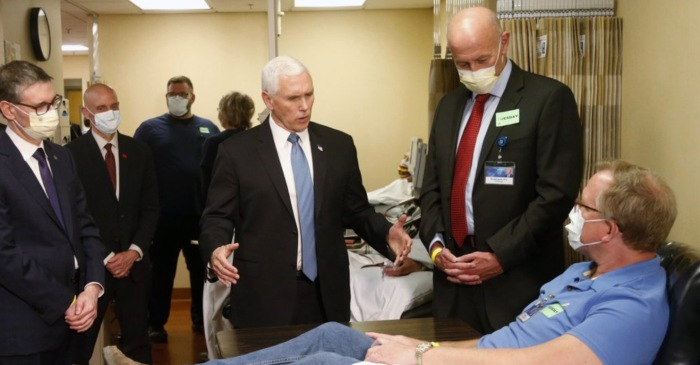 Vice President Pence Chose Not to Wear a Face Mask During Tour of Medical Center Despite Being Required To