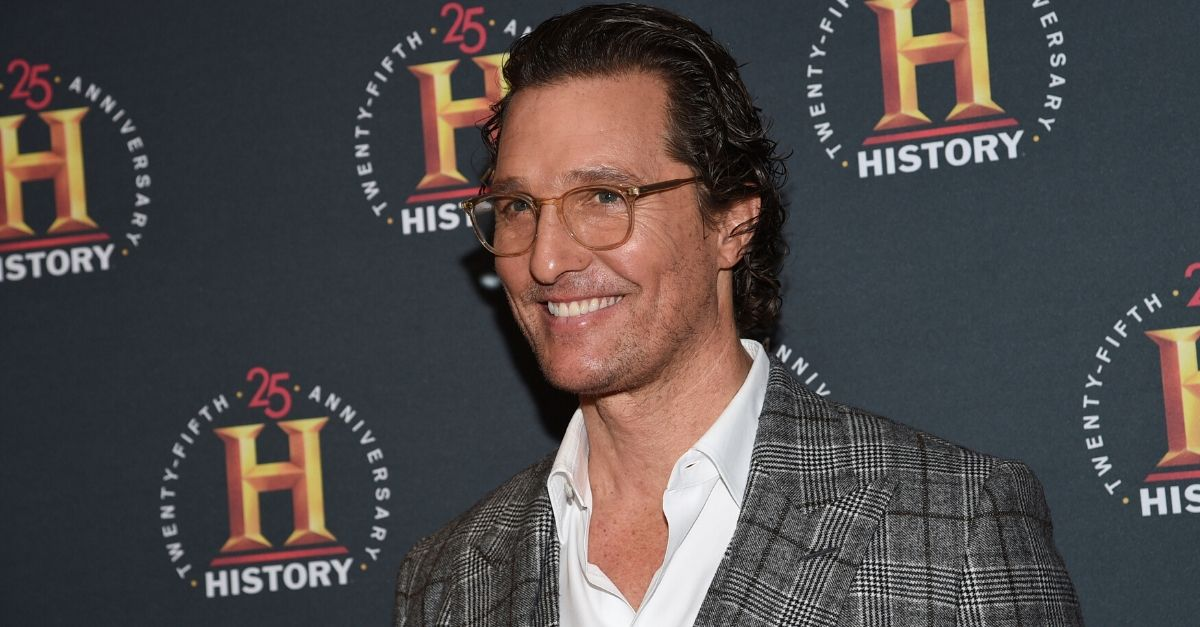 Matthew McConaughey Urges College Students To Stay Inside